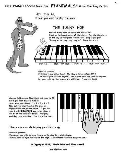 Free Piano Worksheets & Free Sheet Music for Kids ...