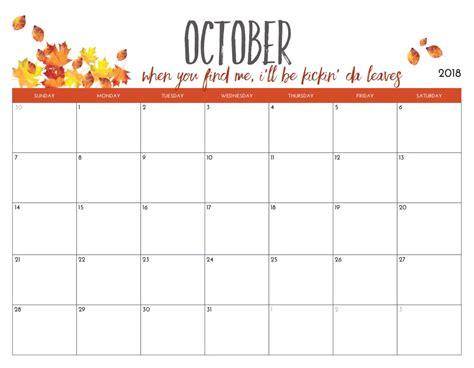 Free Printable 2018 Monthly Calendar | Calendar 2018