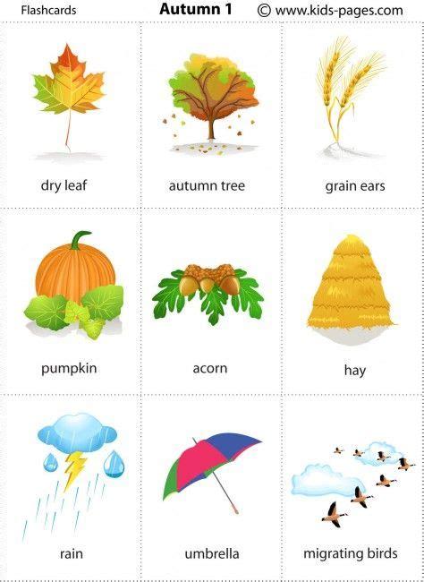 Free printable autumn flashcards | english | Pinterest ...