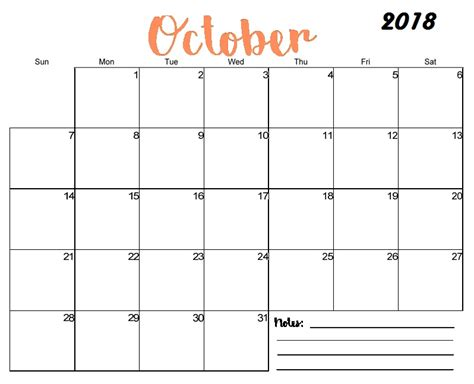 Free Printable Blank Monthly Calendar 2018 | Calendar 2018