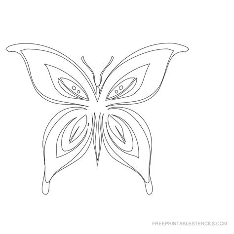 Free Printable Butterfly Stencils | Free Printable Stencils