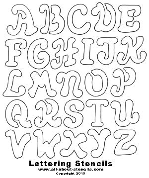Free Printable Letter Stencils Great for School Projects ...