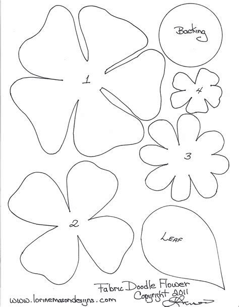 Free Printable Paper Flower Templates | scissors paper and ...