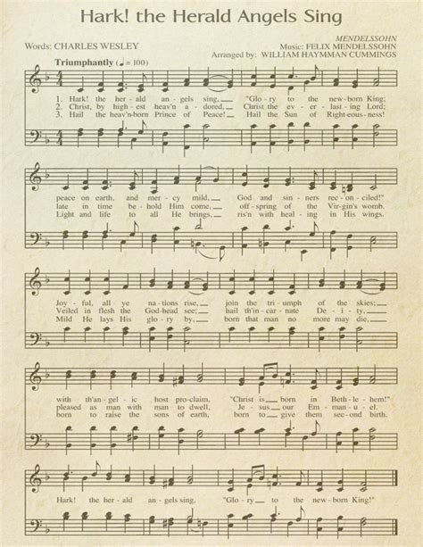 "Free Printable ""Aged"" Music Sheets | Celebrating Holidays"