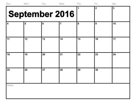 Free Printable September 2016 Calendar   September Month ...