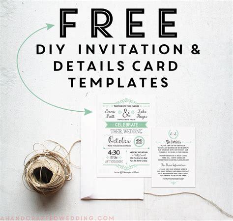 FREE Printable Wedding Invitation Template | Free ...