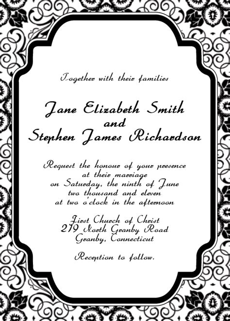 free printable wedding invitation templates | hohmannnt ...