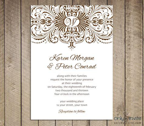 Free Printable Wedding Invitations Templates | Best ...