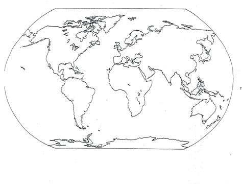 Free Printable World Map Coloring Pages For Kids   Best ...