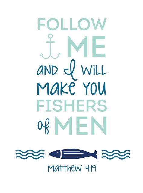 {FREE} September Printable - Matthew 4:19 | Follow me ...