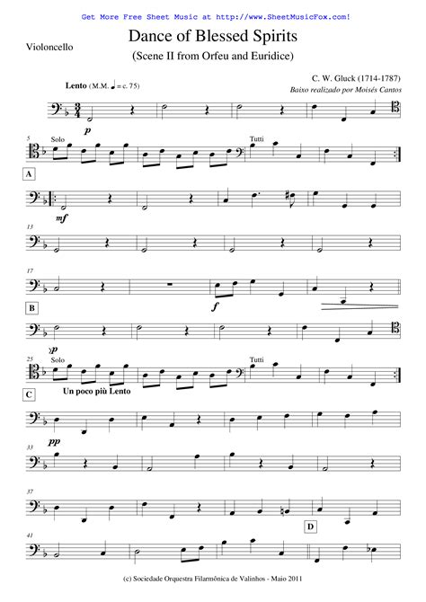 Free sheet music for Orfeo ed Euridice  Gluck, Christoph ...