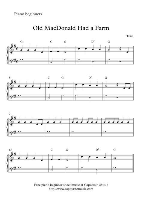 Free Sheet Music Scores: Free easy beginner piano sheet ...