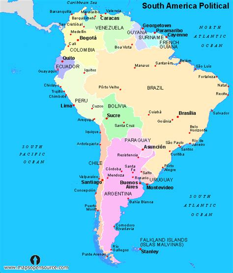 Free South America Maps | Maps of South America | Maps of ...
