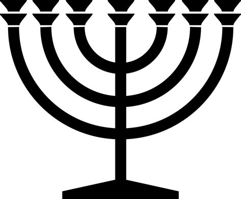 Free vector graphic: Menorah, Jewish, Candle, Judaism ...