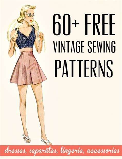 free vintage and retro dress sewing patterns, separates ...