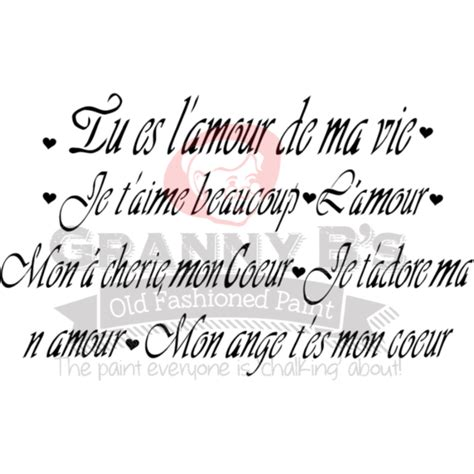French Love Poem Statements Stencil – Granny B s Old ...