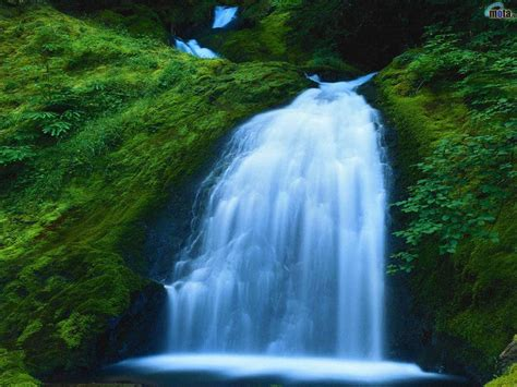 Fresh Nature Blue Waterfall | Okay Wallpaper