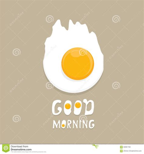 Fried Egg Vector . Good Morning Concept. Stock Vector ...