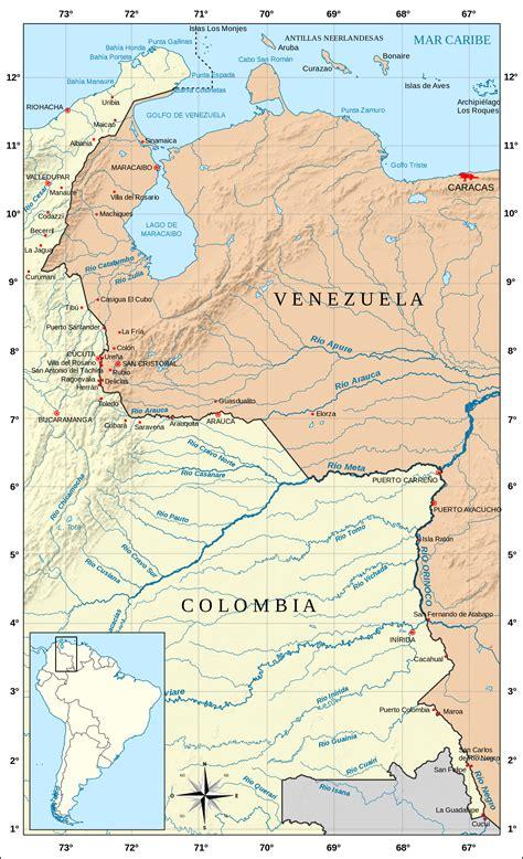 Frontera entre Colombia y Venezuela   Wikipedia, la ...