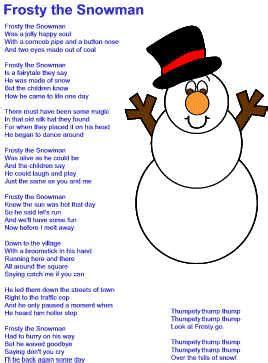 Frosty the Snowman Lyrics