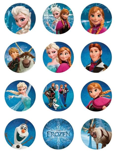 Frozen: Free Printable Toppers.   Oh My Fiesta! in english