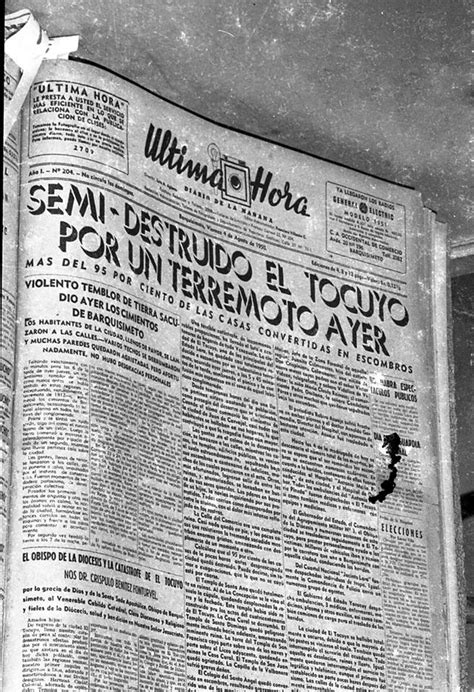 Fue desastroso el sismo de El Tocuyo en 1950 | CORREO DE LARA