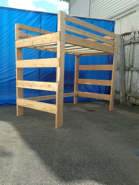 Full Size Adult Heavy Duty Loft Bed Extra Tall Extra Long ...