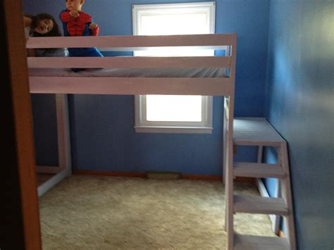 Full Size Loft Bed For Adults With Rustic Wooden Materials ...