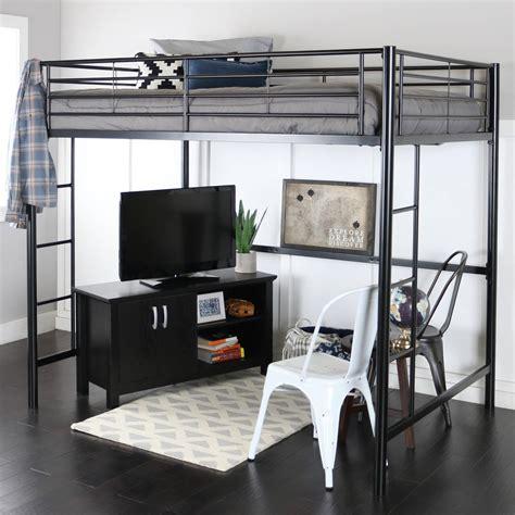 Full Size Loft Bed With Desk And Storage Masata Design ...