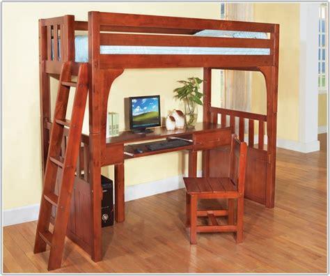 Full Size Loft Bed With Desk Wood   Uncategorized ...