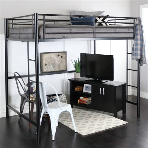 full size metal loft bed with desk   28 images   full size ...