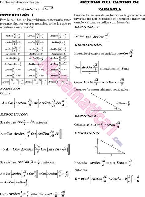 FUNCION ARCOTANGENTE PROBLEMAS RESUELTOS PDF
