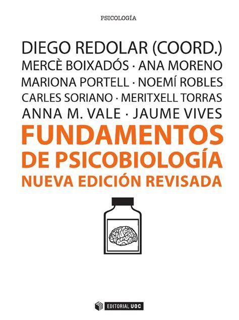 FUNDAMENTOS DE PSICOBIOLOGÍA. ANA MORENO ALCÁZAR / ANNA M ...