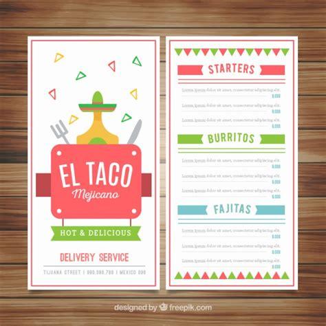 Funny design of mexican menu Vector | Premium Download