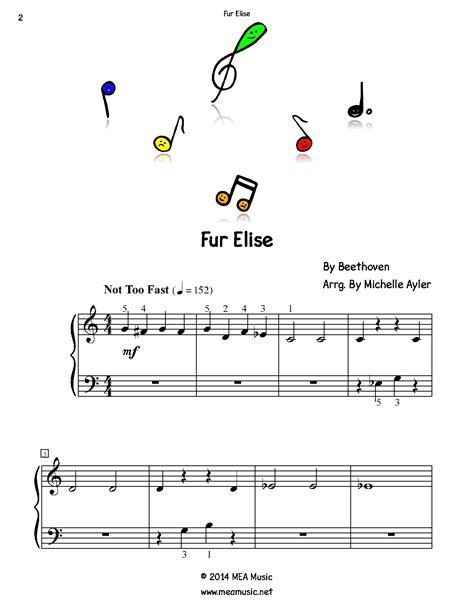 Fur Elise Piano For Beginners Beginner Piano Sheet Music PDF
