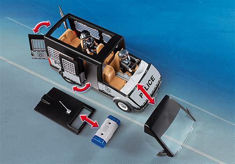 Furgón de Policía con Luces y Sonido   Playmobil 6043 ...