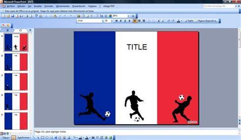 Fútbol Francés Plantilla PowerPoint   Plantillas ...