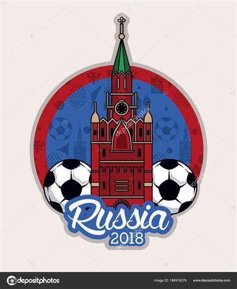 Fútbol mundial de Rusia 2018 — Vector de stock © jemastock ...