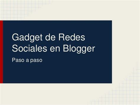 Gadget de redes sociales en blogger