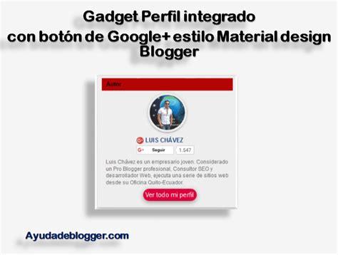 Gadget Perfil integrado con botón de Google+ estilo ...