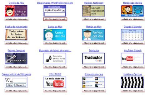 Gadgets gratis de todo tipo para tu Blog - Hazlo tu mismo ...