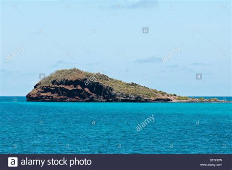 Galapagos Islands, Ecuador. Isla Gardner just off Isla ...
