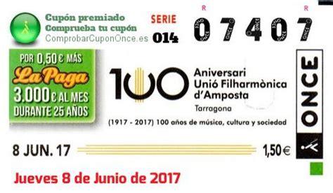 Galería de Cupones de la ONCE premiados - Junio de 2017