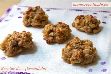 Galletas de avena caseras con manzana y nueces - Recetas ...