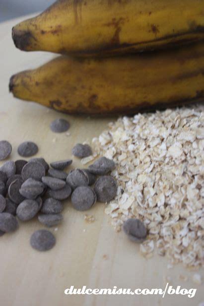 Galletas de avena, platano y chips de chocolate - Dulcemisú