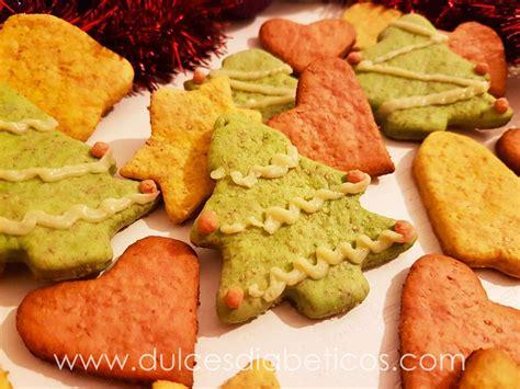 Galletas de Navidad caseras sin azúcar | Dulces Diabéticos