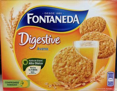 Galletas Digestive Avena — Fontaneda — 550 g