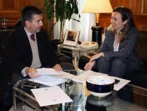 Gamarra, con el director general de la Policía . larioja.com