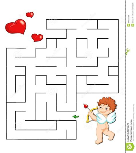 Game 37, Romantic Labyrinth Stock Illustration ...