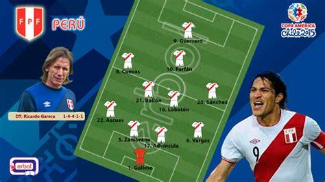 Gareca definió equipo titular para cotejar con Brasil ...